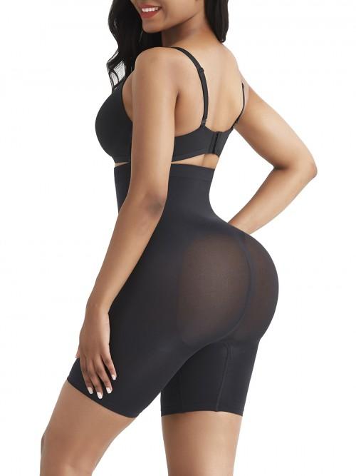 Black Tummy Control Seamless Butt Enhancer Delightful Garment