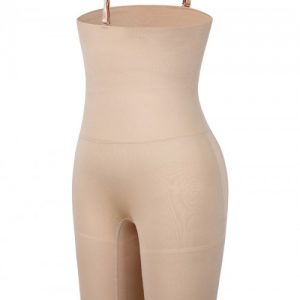 Skin Color Under Bust Seamless Panty Sheer Mesh Abdominal Control