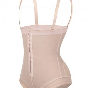 Body-Hugging Black High Waist Hook Front Plus Size Bodysuit Shape Medium Control
