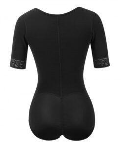 Body Sculpting Black Full Body Shaper Solid Color Plus Size Good Elastic