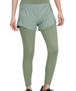 Boldly Green Running Pants High Waist Reflective Luscious Curvy