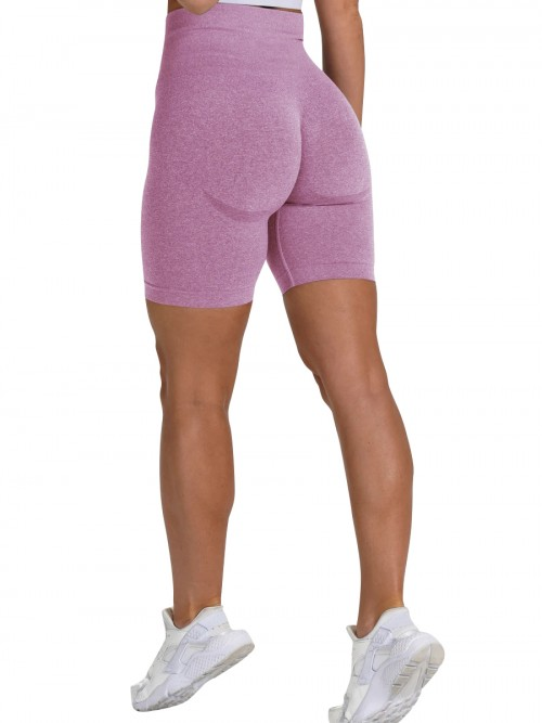 Brilliant Pink Sports Shorts High Waist Solid Color Fashion Forward