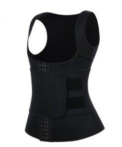 Cellulite Reducing Black Neoprene Waist Trainer Vest