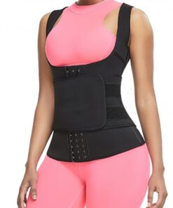Cellulite Reducing Black Neoprene Waist Trainer Vest