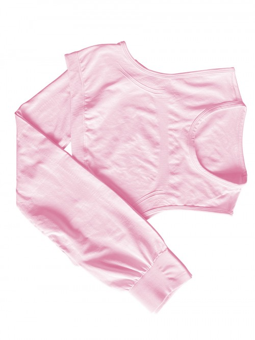 Pink yoga suit seamless spot paint drawstring high quality