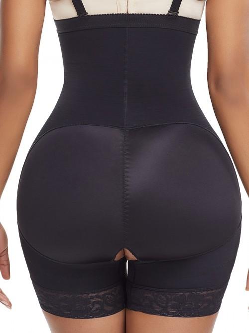 Black Seamless Full Body Shaper Underbust Zipper Weight Loss