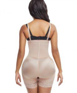 Skin Color Seamless Full Body Shaper Underbust Zipper Weight Loss