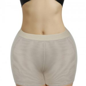 Curve-Creating Apricot Plain Padded Butt Enhancer Shorts