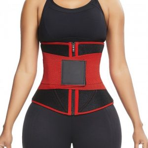 Curve-Creating Red 10 Steel Bones Neoprene Waist Trainer