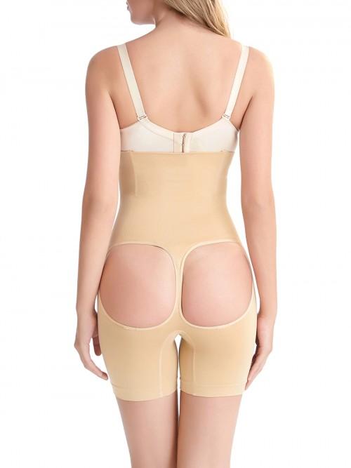 Curve Creator Apricot Open Butt Lifter Panties Seamless High Rise