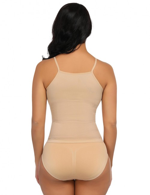 Defining Moment Two Pieces Skin Color 4 Steel Bones Shaping Vest High Waist Panty Figure Slimmer