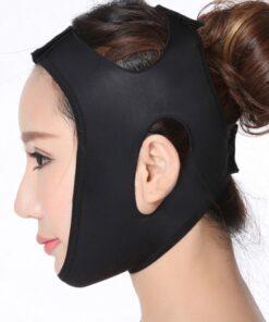 Desirable Designed Black Sticker Face Belt Uplift Shaping Mask