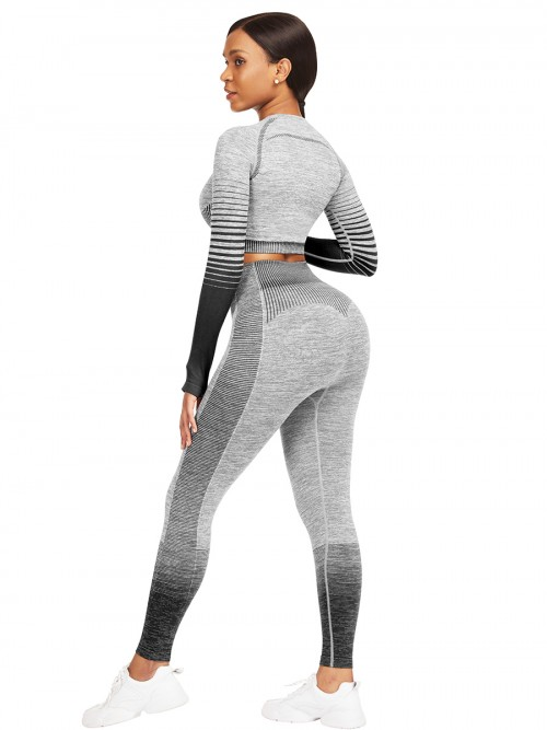 Essential Black Tie-Dyed Cropped Top High Rise Leggings Sweat Absorption