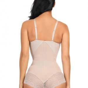 Exquisitely Nude Body Shaper Adjustable Strap Lace Splice Hourglass