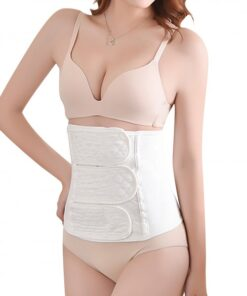 Extended White Solid Color Postpartum Recovery Waist Belt Breathability