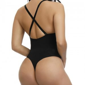 Extra Firm Black Adjustable Straps Plus Size Shape Bodysuit Intant Shaping