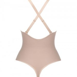 Extra Firm Skin Color Adjustable Straps Plus Size Shape Bodysuit Intant Shaping