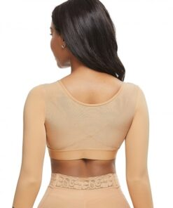 Fashionable Skin Color Queen Size 34 Sleeve Shapewear Bra Comfortable