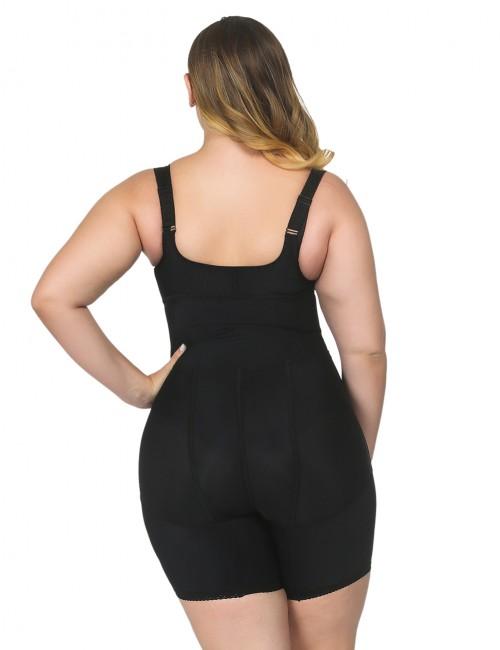 Flatten Tummy Black Underbust Plus Bodysuit Tight Fitting Butt Lifter