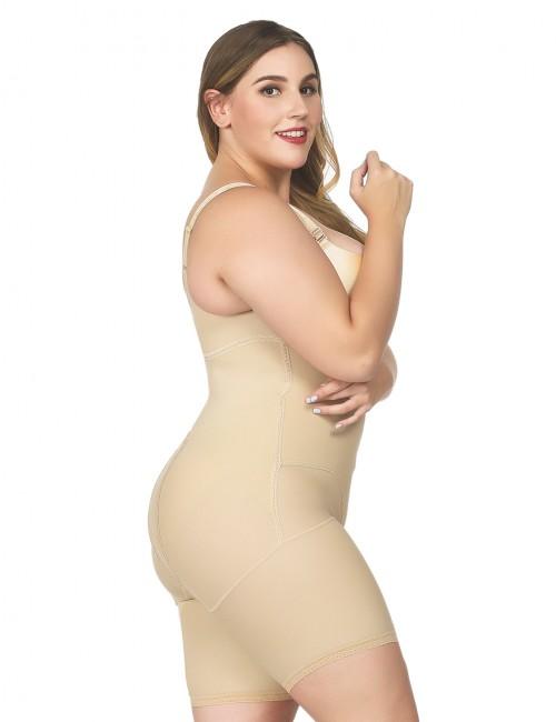 Flatten Tummy Skin Color Underbust Plus Bodysuit Tight Fitting Butt Lifter