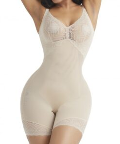 Flexible Skin Color Shapewear Tummy Control Removable Straps High Quality
