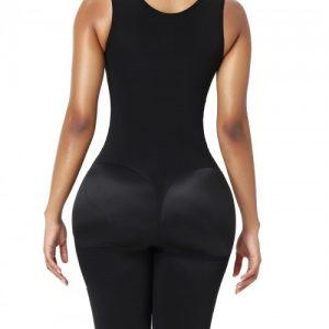 Full Body Shaper Black Zipper Inner Hooks Medium Control