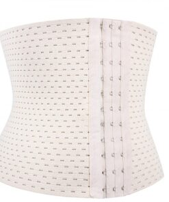 Glam White 3 Rows Hooks Waist Trainer Big Size Soft-Touch