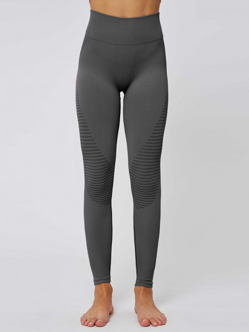 Glorious Grey Solid Color Seamless Yoga Leggings High Quality