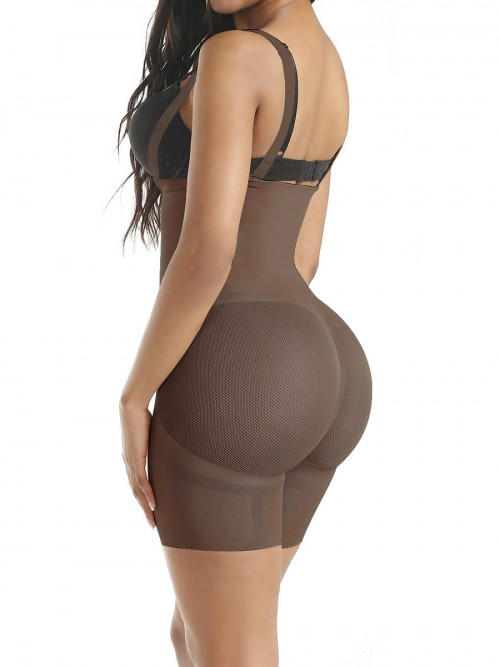 Good Coffee Seamless Full Body Shaper Sheer Mesh Slimming Tummy