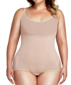 Good Elastic Black Shaper Bodysuit Tummy Control Plus Size