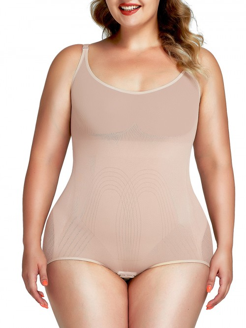 Good Elastic Black Shaper Bodysuit Tummy Control Plus Size
