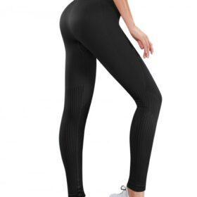 High Elasticity Black High Waist Yoga Legging Ankle Length