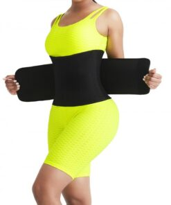 High Elasticity Black Neoprene 5 Bones Sticker Waist Belt Slim