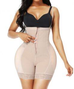 High Waist Butt Lifter Lace Black Removable Pads Body Slimmer