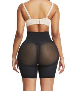 Ideal Black Thigh Length Shorts Shaper High Rise Visual Effect