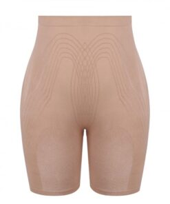 Ideal Skin Color Thigh Length Shorts Shaper High Rise Visual Effect