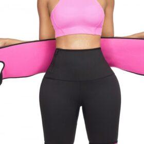 Instantly Slims Pink Sticker High Rise Zipper Thigh Shaper Slim