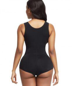Ladies Black Flat Tummy Front Hook Full Body Shaper Compression