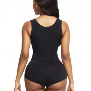 Ladies Black Flat Tummy Front Hook Full Body Shaper Compression