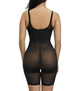 Lightweight Black Adjustable Straps Plus Size Shape Bodysuit Waist Slimmer