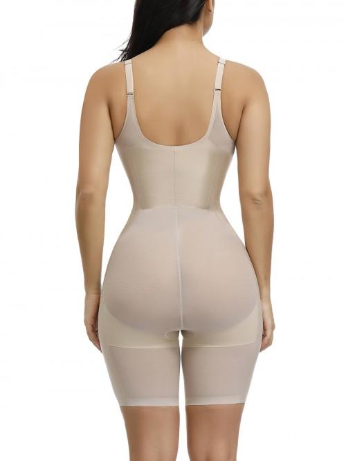 Lightweight Skin Color Adjustable Straps Plus Size Shape Bodysuit Waist Slimmer