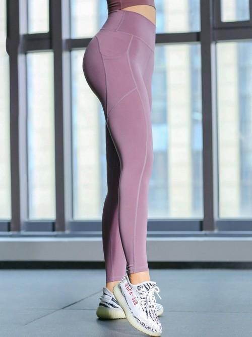 Lovely Purple Athletic Legging High Rise Lift Butt For Sports