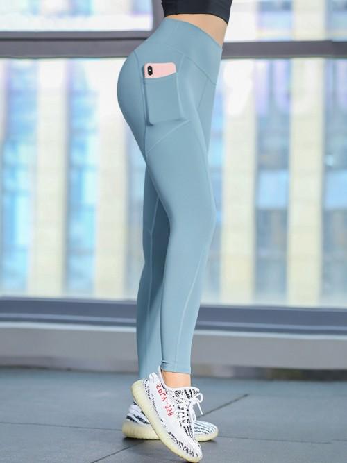 Lovely Green Athletic Legging High Rise Lift Butt For Sports