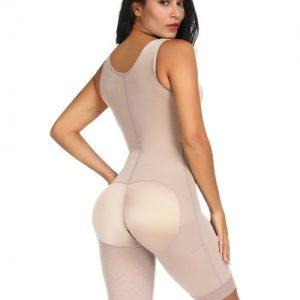 Miracle Skin Color Queen Size Plain Crotchless Bodysuit Unpadded Figure Sculpting