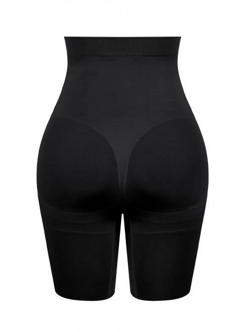 Moderate Control Black Large Size Postpartum Shaper Buckles