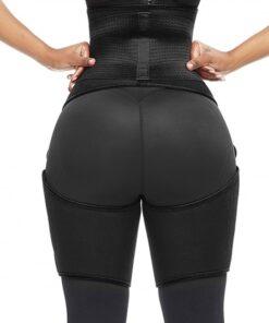 Perfect-Fit Black Neoprene Adjustable Sticker Thigh Trimmer Slim Girl