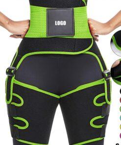 Perfect-Fit Green Neoprene Adjustable Sticker Thigh Trimmer Slim Girl