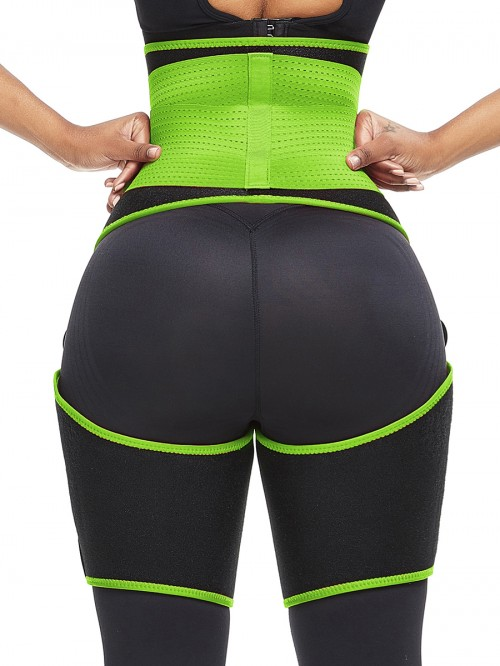 Perfect-Fit Green Neoprene Adjustable Sticker Thigh Trimmer Slim Girl
