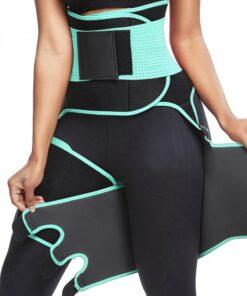 Perfect-Fit Light Green Neoprene Adjustable Sticker Thigh Trimmer Slim Girl