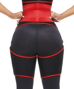 Perfect-Fit Red Neoprene Adjustable Sticker Thigh Trimmer Slim Girl